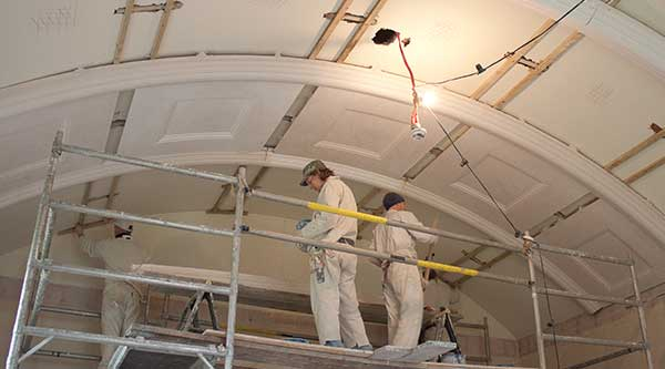 Creating and installing a plaster barrel ceiling