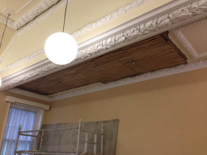 Conservation Traditional Lime Plastering Using Oak Riven Laths supplied by Coyle Timber