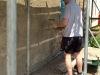 Ben applying exterior lime render in Brompton