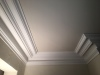 Finished ceiling and cornice repair.