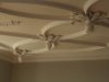 plaster ceiling design with space for a chandelier