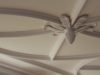 close up detail of decorative plaster ceiling design