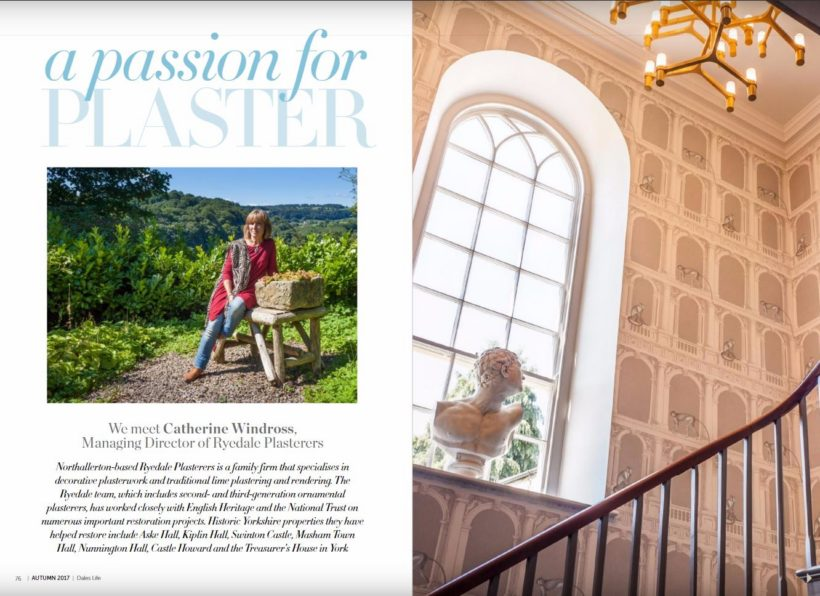 a passion for plaster article about Ryedale Plasterers in Dales Life magazine