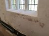 plaster damage before historic church restoration work began