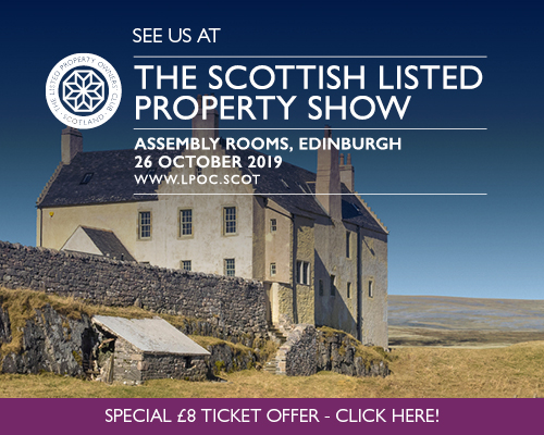 Advert for Scottish Listed Property Show